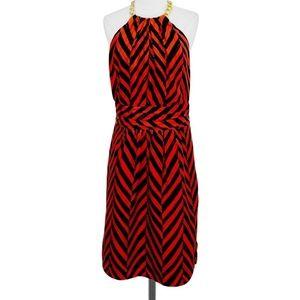 Milly Silk Chain Halter Dress